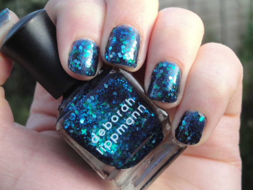Deborah Lippmann Across The Universe Beatles Nail Polish Aqua Turquoise Green Glitter deep blue sky sea ocean dragon snake lizard monster house of fraser high end