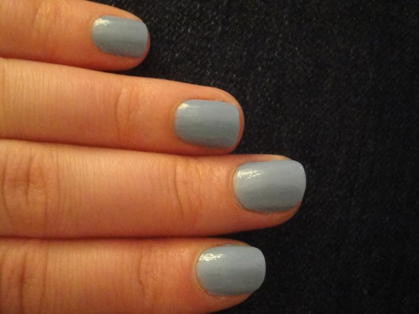 Revlon Dreamer 410 Cornflower Dusky Blue Anniversary Nail polish Essie Lapis of Luxury Comparison Dupe Grey purple