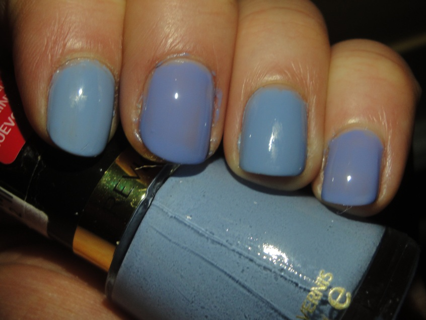 Revlon Dreamer 410 Cornflower Dusky Blue Anniversary Nail polish Essie Lapis of Luxury Comparison Dupe Grey purple (3)