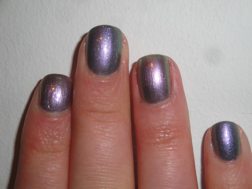 Barry M Silvery Lilac Grey Purple Pink Green Silver Blue Multichrome Duochrome OPI Not like the movies comparison unicorn nail polish butter london knackered microglitter UK spring summer 2012 lilac lavender