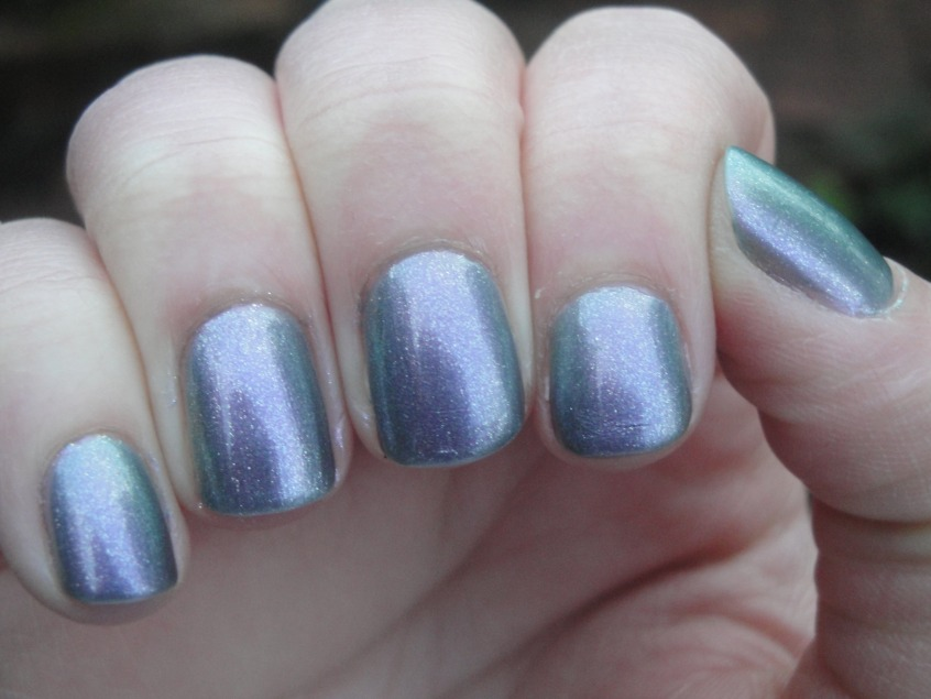 Barry M Silvery Lilac Grey Purple Pink Green Silver Blue Multichrome Duochrome OPI Not like the movies comparison unicorn nail polish microglitter UK spring summer 2012 lilac lavender