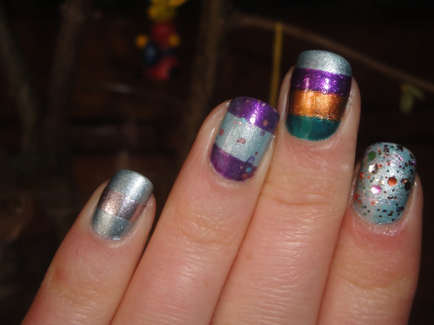Easter Egg Nail Art foil multicoloured silvery glittery opi rainbow connection models own indian ocean boots 17 fury accessorize goddess beautyuk moonstone max factor angel nails tape manicure mini eggs silver