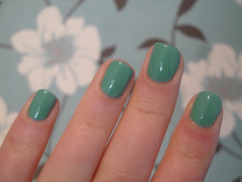 Marks and Spencer Jade nail polish sage green mint spring nail trend 2012 warm tone dusty seafoam green creme cruelty free BUAV approved