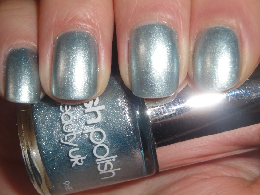 BeautyUK Moonstone Nail Polish Gem stone collection posh polish silver blue foil baby blue shimmer orly rage glitter microglitter UK nail varnish pale blue silver