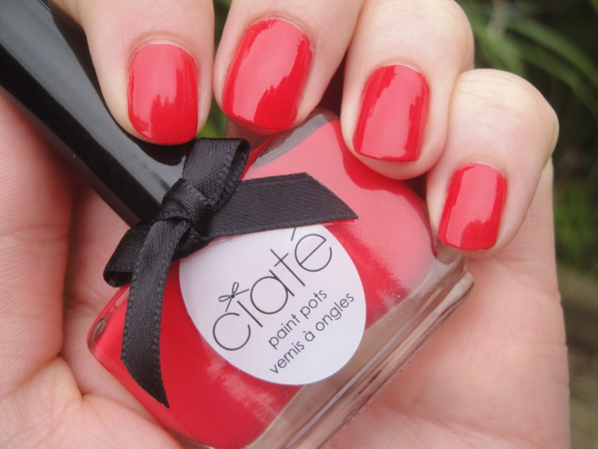 Ciate Pom Pom swatch paint pot coral creme red orange nail polish spring summer 2012