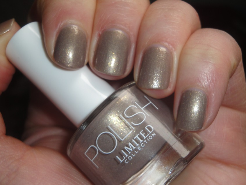Marks and Spencer Cappuccino New Limited Collection Nude Taupe Greige Gold shimmer glassfleck sparkle glitter neutral nails office work appropriate brown grey buav approved cruelty free