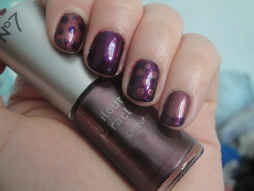 No.7 Miracle Plum Colour Miracle nail polish colour changing clear topcoat mauve plum shade shimmer chameleon polish barry m