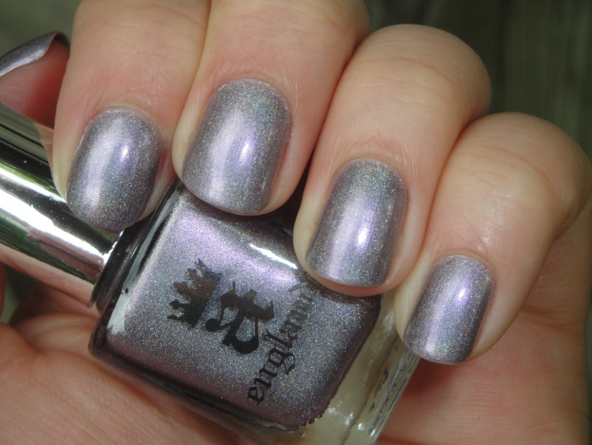 A England Princess Tears Purple Holo holographic nail polish adina indie brand uk lilac pale duochrome lavender pink