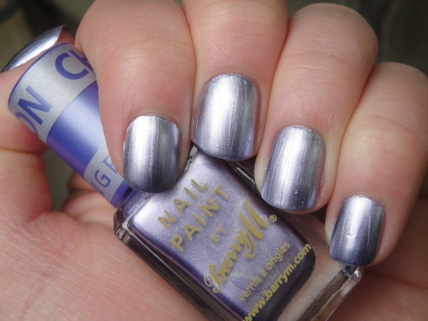 Barry M Chameleon Lilac Silver Purple Foil chrome romantique china glaze colour change top coat clear nail polish add nail art lillibet