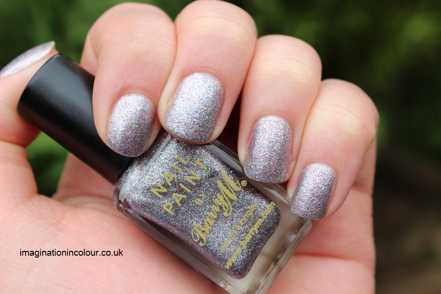 Barry M Silver Multi Glitter multicolored multicoloured pink blue yellow silver microglitter dense foil nail paint