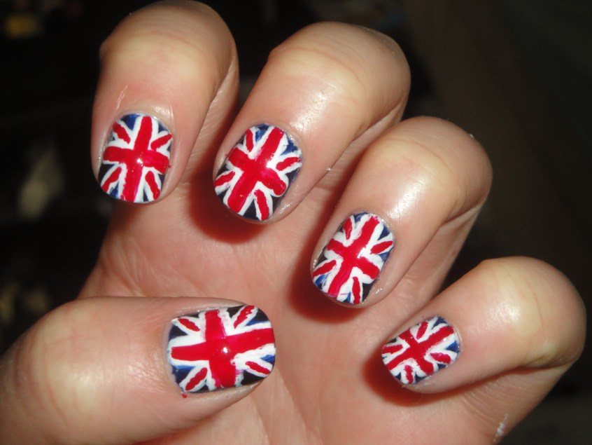 Nail Design Union : England flag nail art nails pictures to pin on - Nail Design Union ~ British Flag Nail Art Ideas