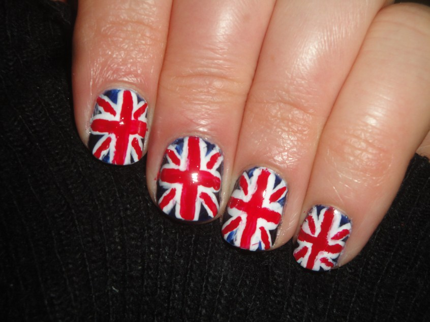 Union Jack Jubilee Nail Art Manicure Great Britain British Flag nails royal queen elizabeth coronation celebration UK United Kingdom