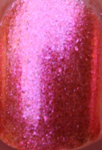 2true Shade 6 crystal nail polish pink peach orange shimmer gem duochrome mac bad fairy accessorize pink spice dupe summer limited edition uk close up