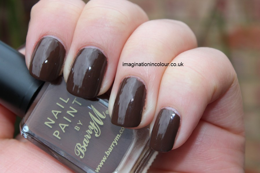 Barry M Chocolate Brown Nail Paint cocoa deep creme polish barely black  rich coffee brown colour discontinued