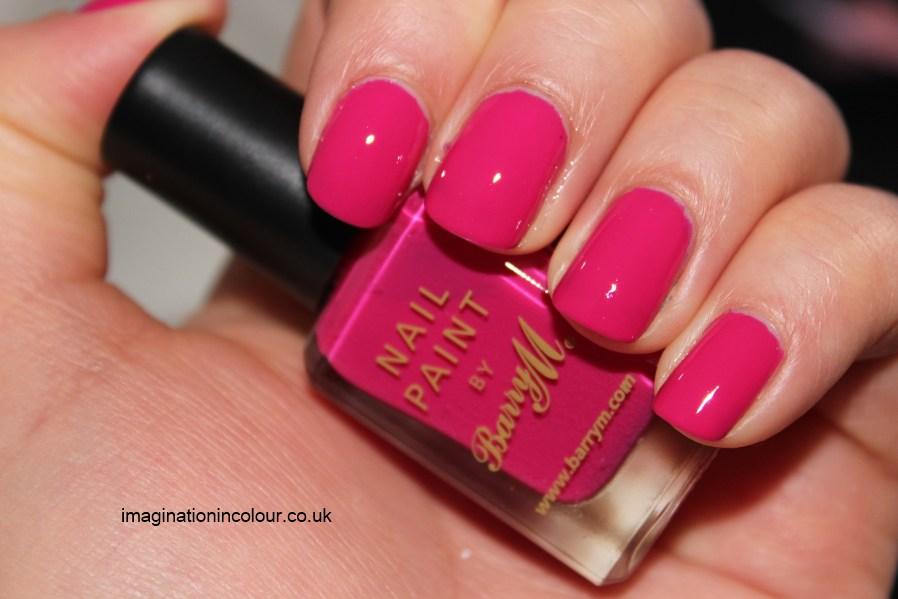 Pink Paint Neon Nails Nail