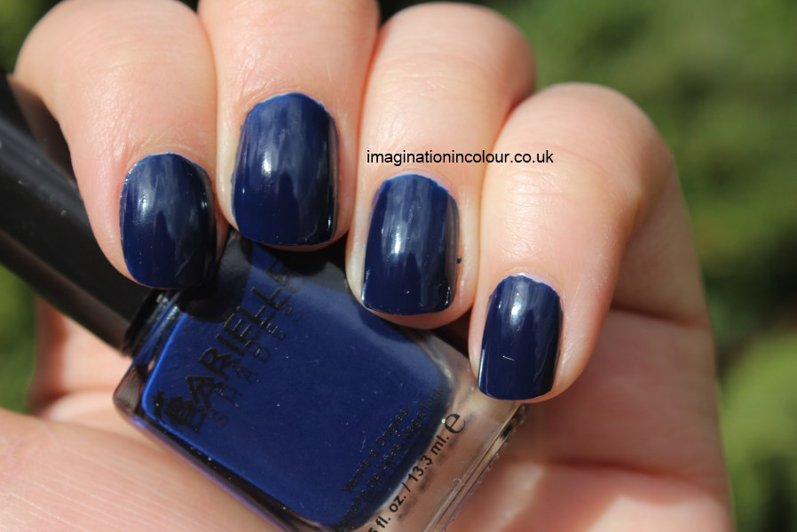Barielle Berry Blue shades dark blue blue-black midnight creme review UK nail polish blog