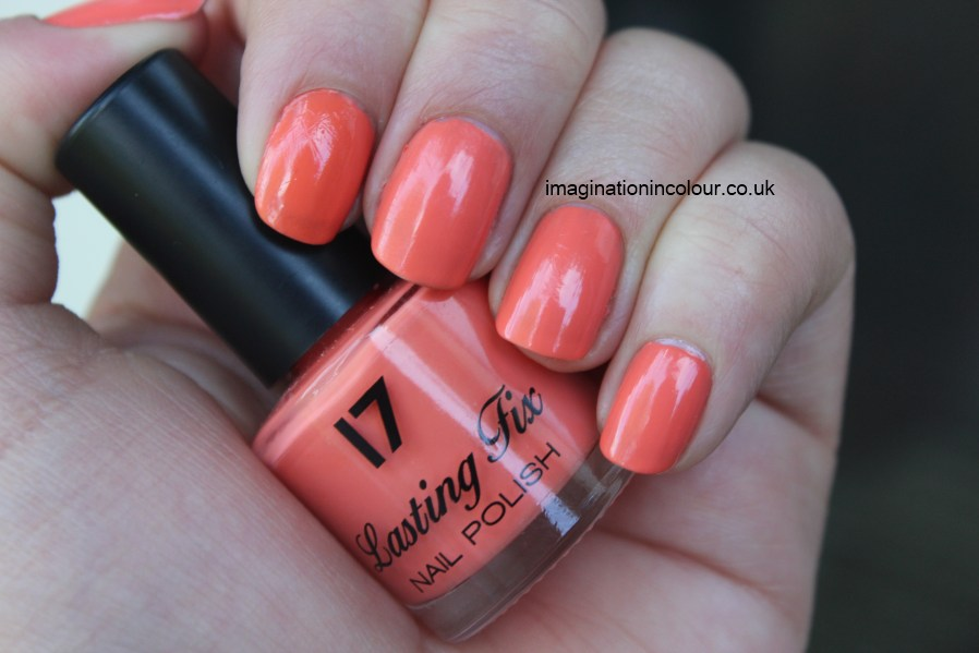 Boots 17 Orange Soda nail polish lasting fix essie tart deco pastel peachy pink peach creme UK review blog 30 day nail challenge