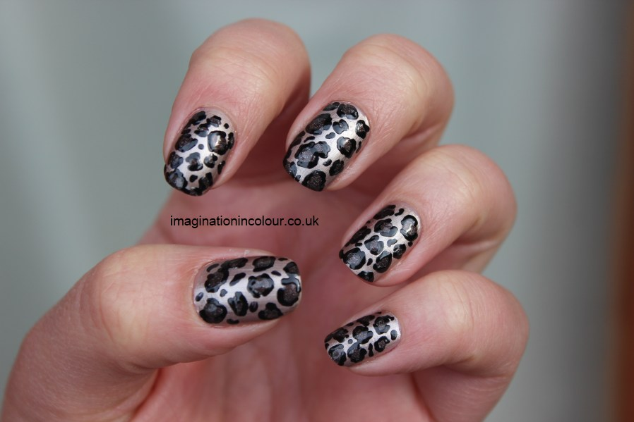 Leopard Print nail art champagne nude boots 17 cosmetics opi my private jet rio nail art pen simple design easy basic 30 days untrieds challenge UK nail polish blog