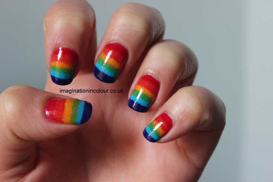 Rainbow Ombre Nails Rainbow Nail Art Gradient
