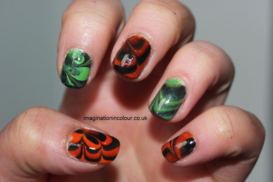 Green and orange nail art gallery nail art and nail design ideas water marble nail art color combinations image collections nail nail art combination image collections nail art prinsesfo Images