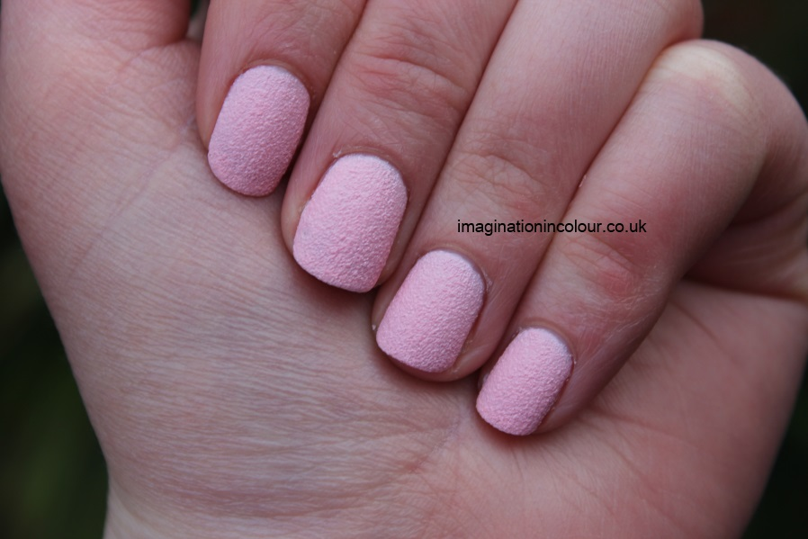 Barry M Kingsland Road textured nail paint polish effects nails inc concrete leather opi liquid sand strawberry ice cream pale pink baby matte review UK blog swatch swatches (2)
