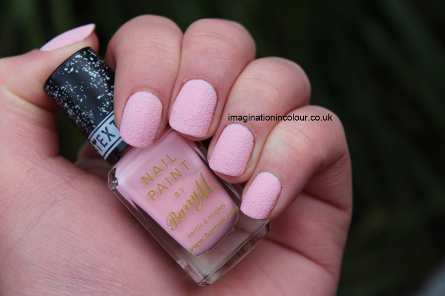 Barry M Kingsland Road textured nail paint polish effects nails inc concrete leather opi liquid sand strawberry ice cream pale pink baby matte review UK blog swatch swatches (4)