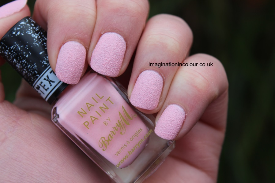 Barry M Kingsland Road textured nail paint polish effects nails inc concrete leather opi liquid sand strawberry ice cream pale pink baby matte review UK blog swatch swatches