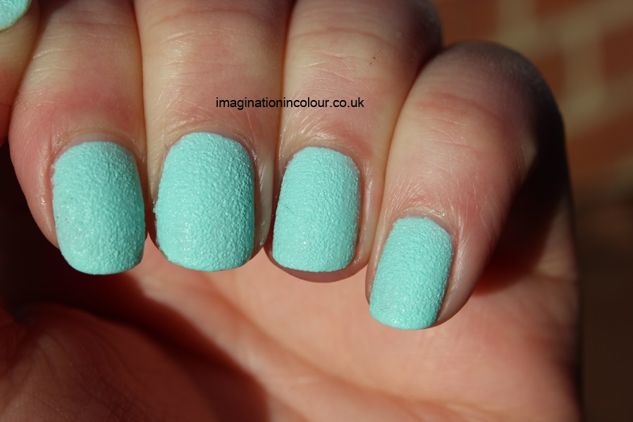 Barry M Ridley Road Textured Nail Paint mint green concrete leather nails inc effect liquid sand opi texture spring collection release 2013 review swatch swatches mint ice cream UK polish blog