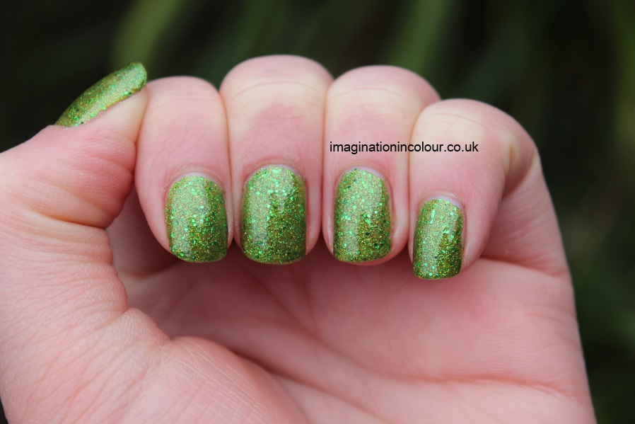 Butter London Swinger green glitter gold golden lime grass bright nail polish lacquer UK varnish review blog swatch swatches (8)
