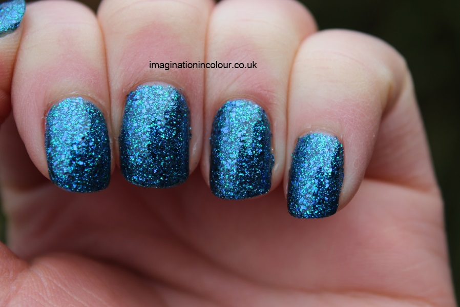 China Glaze Water-You Waiting For water you what are blue purple aqua glitter multi cirque du soleil collection UK nail polish blog review swatch swatches turquoise ocean (6)
