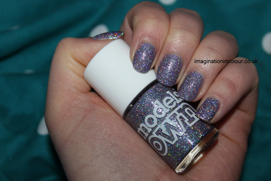 Models Own Southern Lights purple lilac scattered holo holographic glitter multicoloured sparkle juicy jules northern wonderland collection topcoat winter 2012 review blog UK nail polish swatch (8)