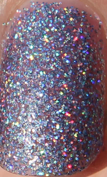 Models Own Southern Lights purple lilac scattered holo holographic glitter multicoloured sparkle juicy jules northern wonderland collection topcoat winter 2012 review blog UK nail polish swatch close up macro