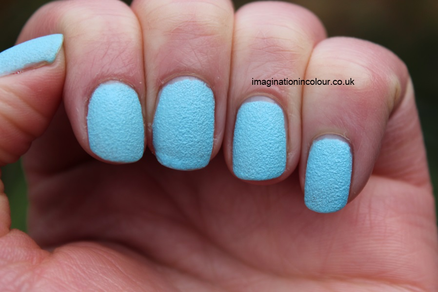 Barry M Atlantic Road textured nail paint polish effects nails inc concrete leather opi liquid sand baby blue pastel sky grainy review uk blog swatch swatches