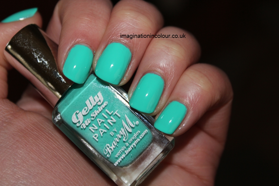 Barry M Greenberry Gelly Nail Paint polish Green Berry turquoise aqua creme gnp12 spring 2013 collection bright hi-shine uk blog review swatch swatches