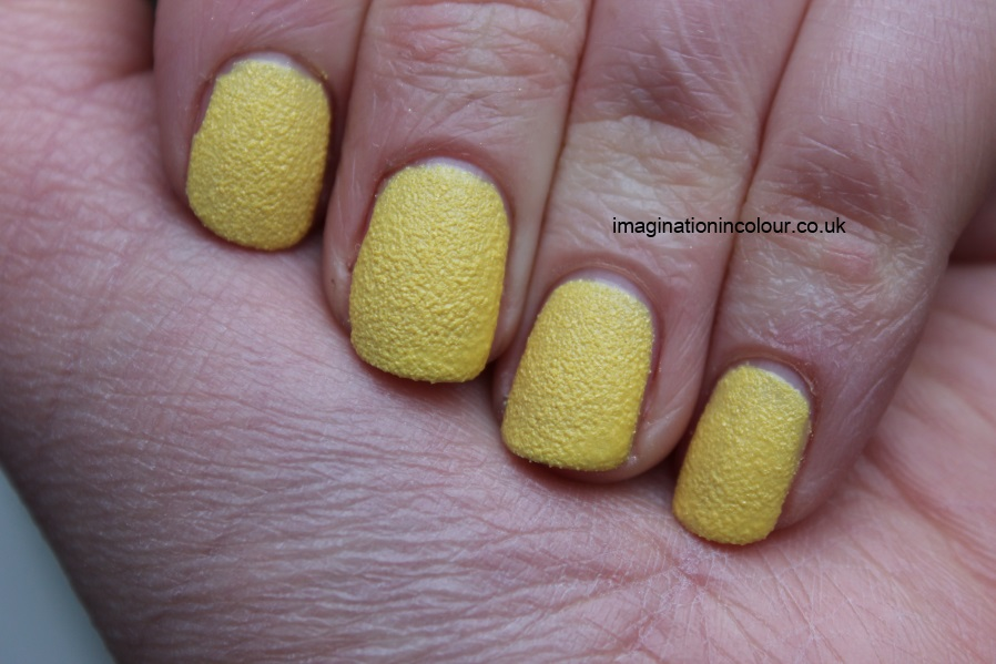 Barry M Station Road Textured nail effects paint yellow gold shimmer sparkle sand liquid opi nails inc concrete leather pastel egg yolk polish review uk nail blog swatch swatches sandpaper