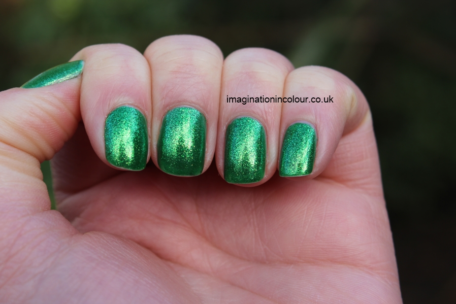 China Glaze Running In Circles Cirque du Soleil collection holiday 2012 christmas bright electric green glassfleck shimmer nail polish vibrant uk nail blog review swatch swatches