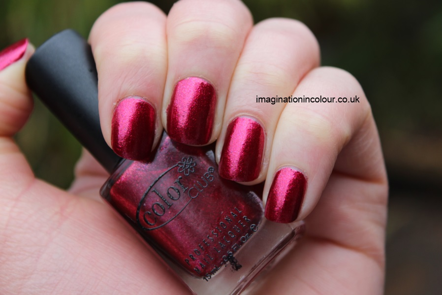 Color Club Berry and Bright holiday 2012 winter affair collection cranberry raspberry red magenta pink shimmer foil duochrome review uk nail varnish polish blog