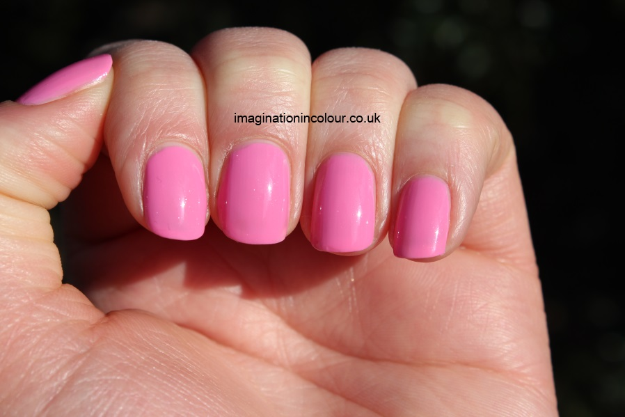 Barry M Dragon Fruit Gelly Nail Paint Hi Shine dragonfruit spring 2013 pink bubblegum shimmer creme review uk nail blog swatch swatches