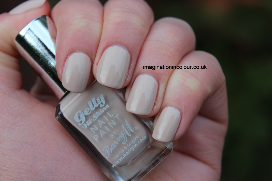 Barry M Lychee Gelly nail paint nude nails uk vlog review swatch swatches creme beige