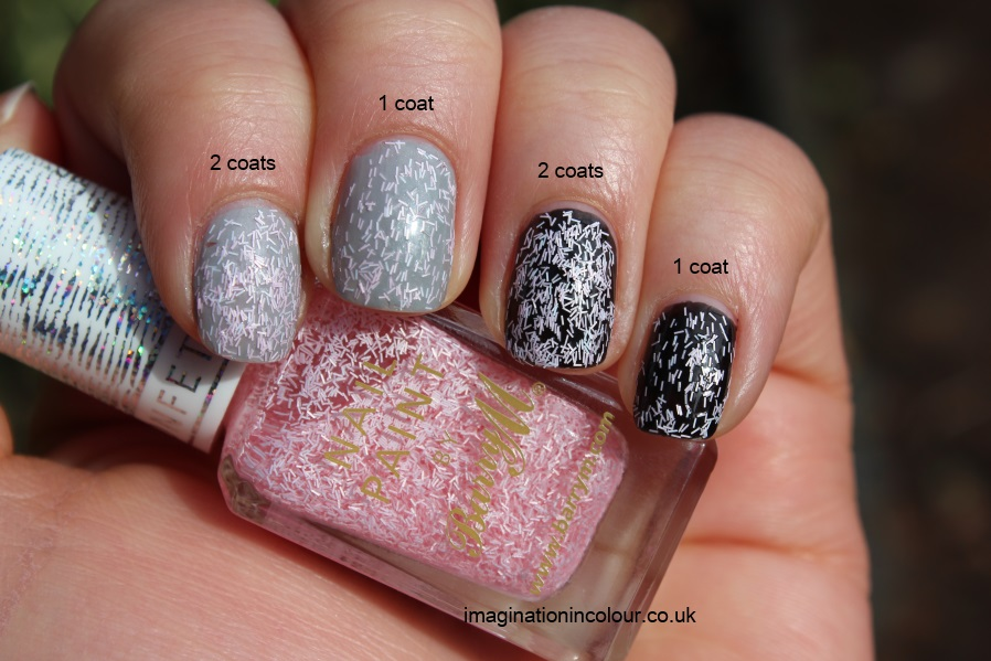 Barry M Marshmallow Confetti Nail Effects Nail Paint feathers nails inc dupe bar glitter matte pink and white pearl topcoat uk blog review swatch swatches (4)