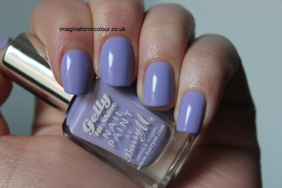 Barry M Prickly Pear Gelly Nail Paint pale lavender lilac purple gel effect nail polish glossy pastel spring review swatches uk blog swatch