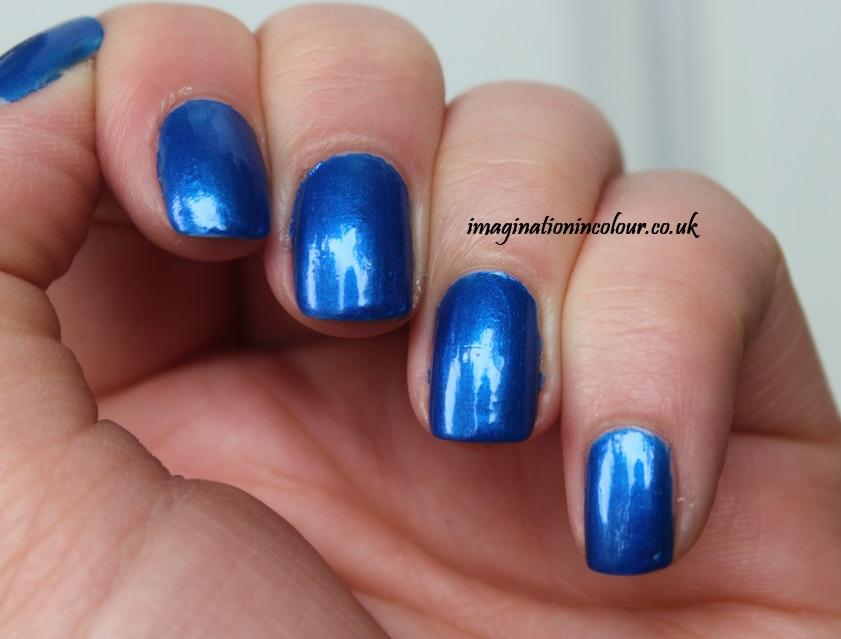 Jacava London Midnight's Secrets Secret nail polish 8-free 3-free bright cobalt blue shimmer china glaze frostbite metallic review blog UK