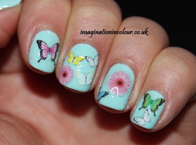 Nailtopia Real Butterflies and Flowers instant nail art stickers rubber based thin easy to apply review uk polish blog