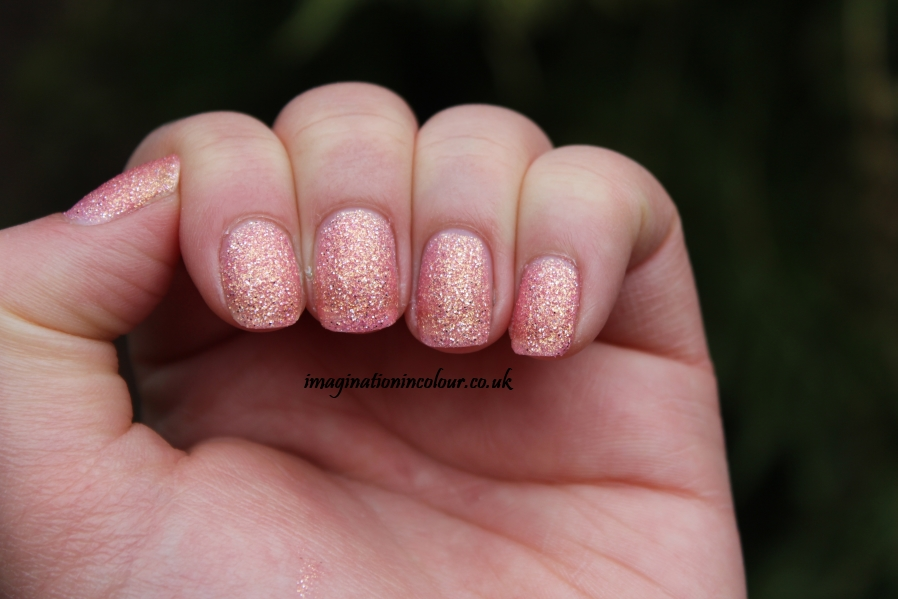 Barry M Princess Textured effect royal glitters collection royals liquid sand glitter peach pink golden jinx sparkle nail polish paint uk blog review swatch swatches