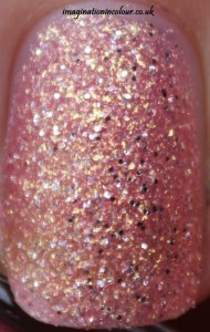 Barry M Princess Textured effect royal glitters collection royals liquid sand glitter peach pink golden jinx sparkle nail polish paint uk blog review swatch swatches close up macro