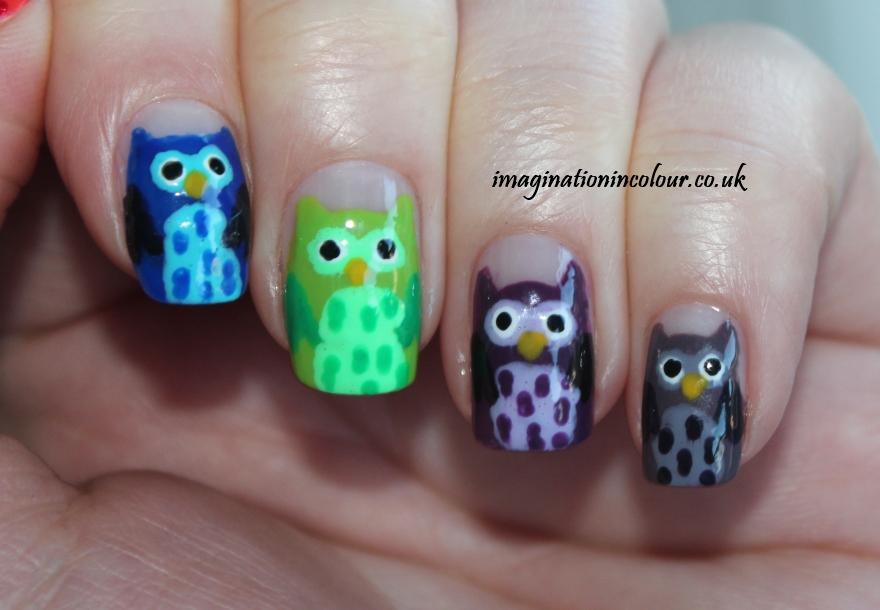 Owl Nail Art (2)