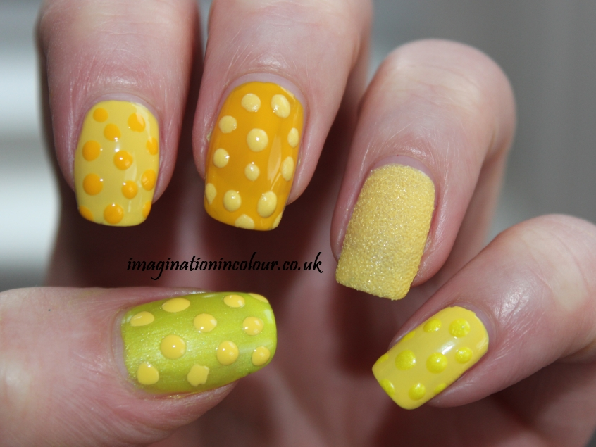 Yellow Nail Art (2)