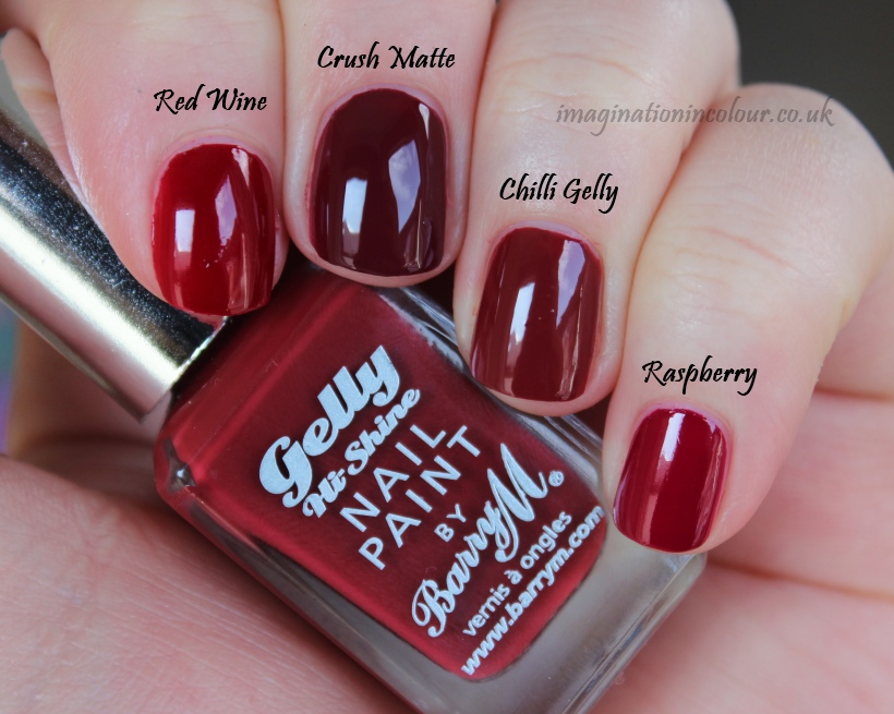 Barry M Chilli Gelly Comparison