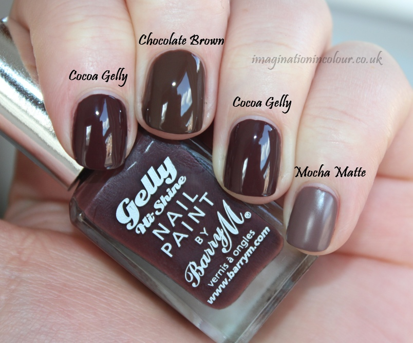 Barry M Cocoa Gelly Comparison
