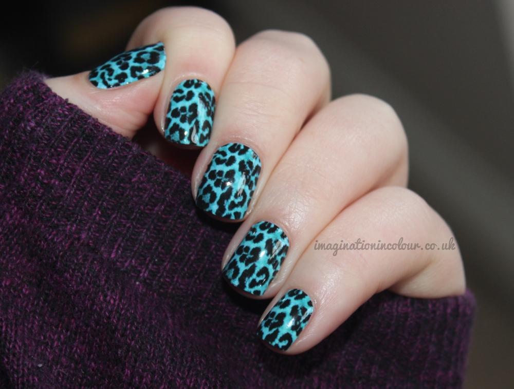 OMG Nail Strips Blue Leopard